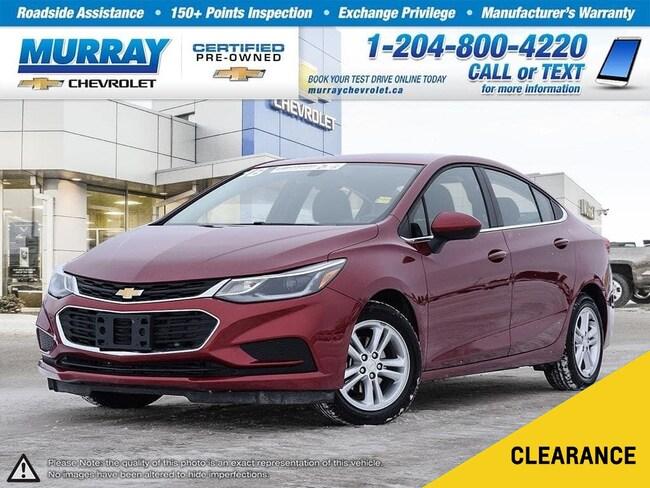 2018 Chevrolet Cruze LT Auto *Remote Start, Rear View Camera, Wi-Fi* Sedan