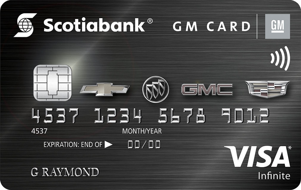 gm scotiabank visa card discontinued brand application bonus