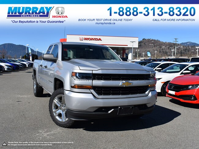 2016 Chevrolet Silverado 1500 Custom 4X4 Double Cab *BLUETOOTH, UPGRADED TIRES* Truck