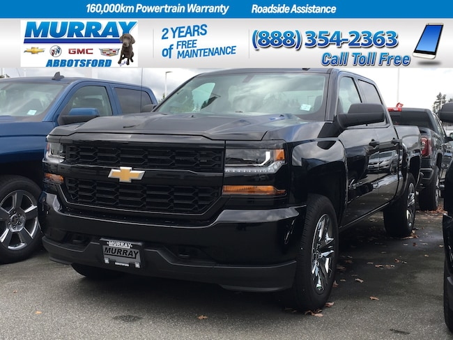 2018 Chevrolet Silverado 1500 Custom | Split Front Bench Seat Truck Crew Cab