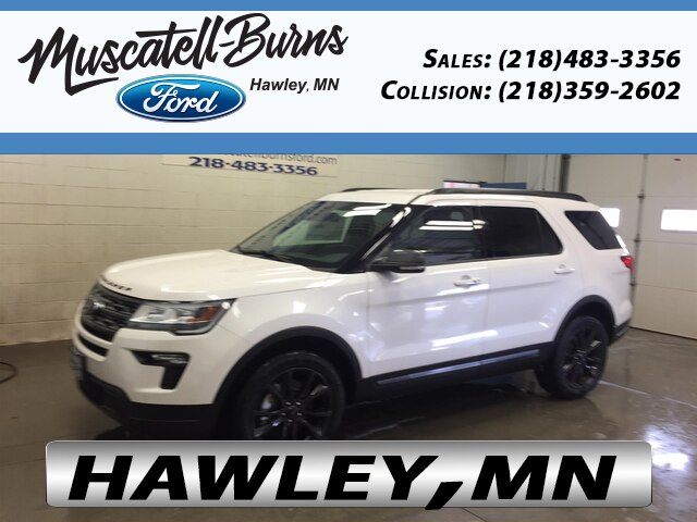 White Ford Explorer >> New 2019 Ford Explorer Suv Xlt White For Sale In Hawley Mn Stock F9204 Vin 1fm5k8d8xkgb08470