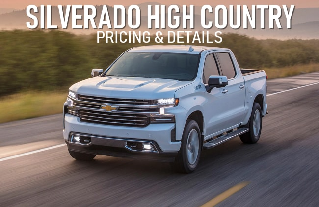 High Country Chevy >> Details About Chevy Silverado High Country Pricing Norwood