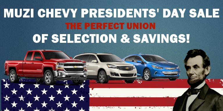2018 chevy presidents 39 day sale at muzi chevy serving. Black Bedroom Furniture Sets. Home Design Ideas