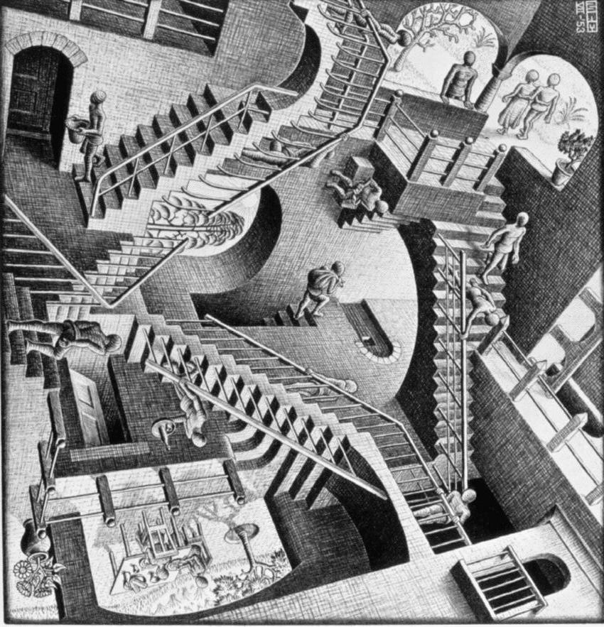 stairs illusion staircase impossible down optical escher chevy sideways go posters movie relativity never won