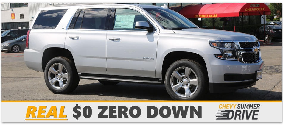 Chevy Tahoe Lease >> Chevy Summer Drive Truck Suv Deals At Muzi Chevy Serving