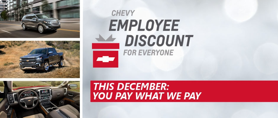 Chevy Employee Pricing For All | At Muzi Chevy serving ...
