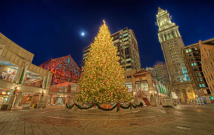 Faneuil Hall Christmas Tree Lighting