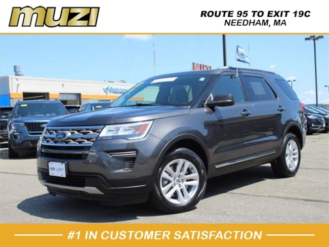 Certified 2018 Ford Explorer XLT for sale near Boston, MA at Muzi Ford