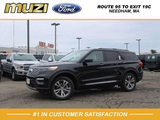 New 2020 Ford Explorer Platinum SUV for sale near Boston, MA at Muzi Ford