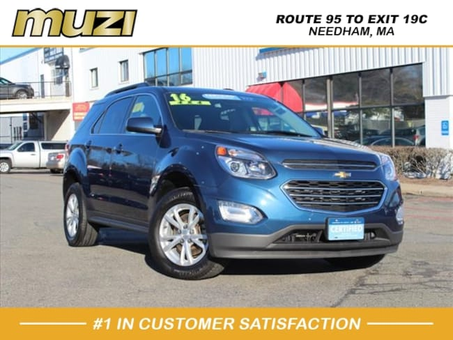 Certified 2016 Chevrolet Equinox LT for sale near Boston, MA at Muzi Ford