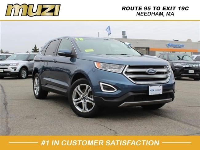 Certified 2018 Ford Edge Titanium for sale near Boston, MA at Muzi Ford