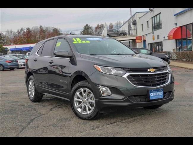 Certified 2018 Chevrolet Equinox LT for sale near Boston, MA at Muzi Ford
