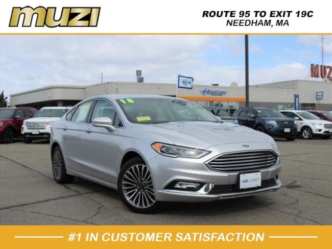 Certified 2018 Ford Fusion Titanium for sale near Boston, MA at Muzi Ford