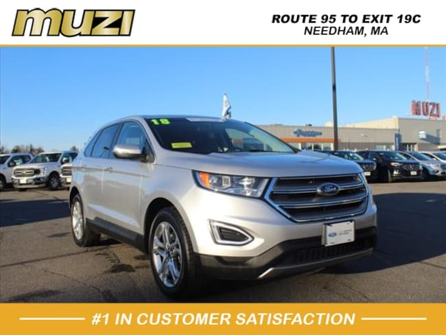 Certified 2018 Ford Edge Titanium for sale near Boston, MA at Muzi Ford