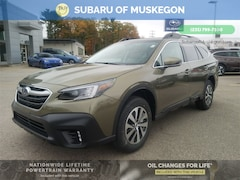 New 2021 Subaru Outback Premium WAGON 4S4BTAFC5M3119573 for sale in Muskegon, MI at Subaru of Muskegon
