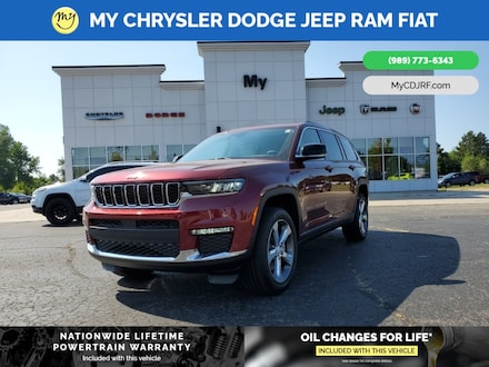 Featured New 2021 Jeep Grand Cherokee L LIMITED 4X4 Sport Utility for sale in Mt. Pleasant, MI