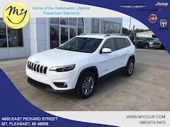 New 2019 Jeep Cherokee LATITUDE PLUS 4X4 Sport Utility 1C4PJMLN4KD142261 for sale in Mt Pleasant, MI