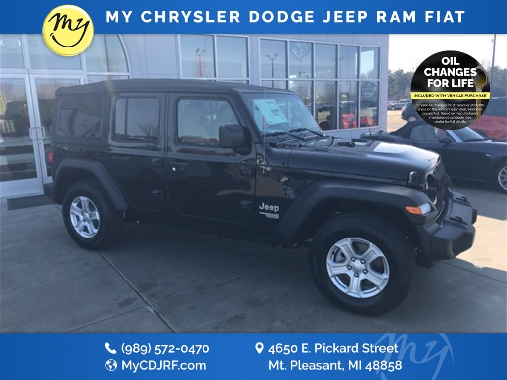 Featured New 2018 Jeep Wrangler UNLIMITED SPORT S 4X4 Sport Utility for sale in Mt. Pleasant, MI