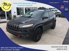Used 2016 Jeep Cherokee Trailhawk 4x4 SUV for sale in Mt Pleasant, MI
