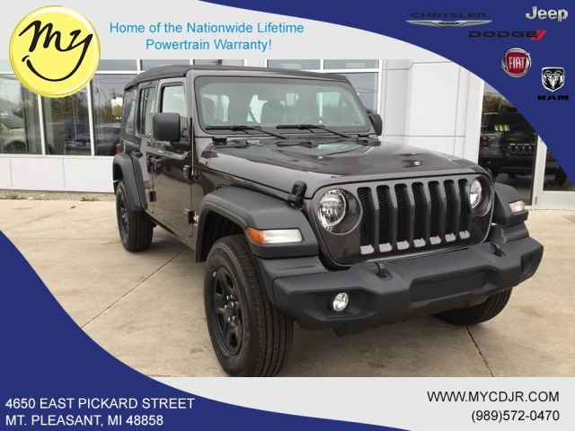 New 2018 Jeep Wrangler UNLIMITED SPORT 4X4 Sport Utility for sale in Mt Pleasant, MI