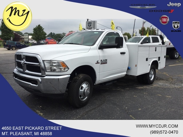 Featured New 2018 Ram 3500 TRADESMAN CHASSIS REGULAR CAB 4X2 143.5 WB Regular Cab for sale in Mt. Pleasant, MI