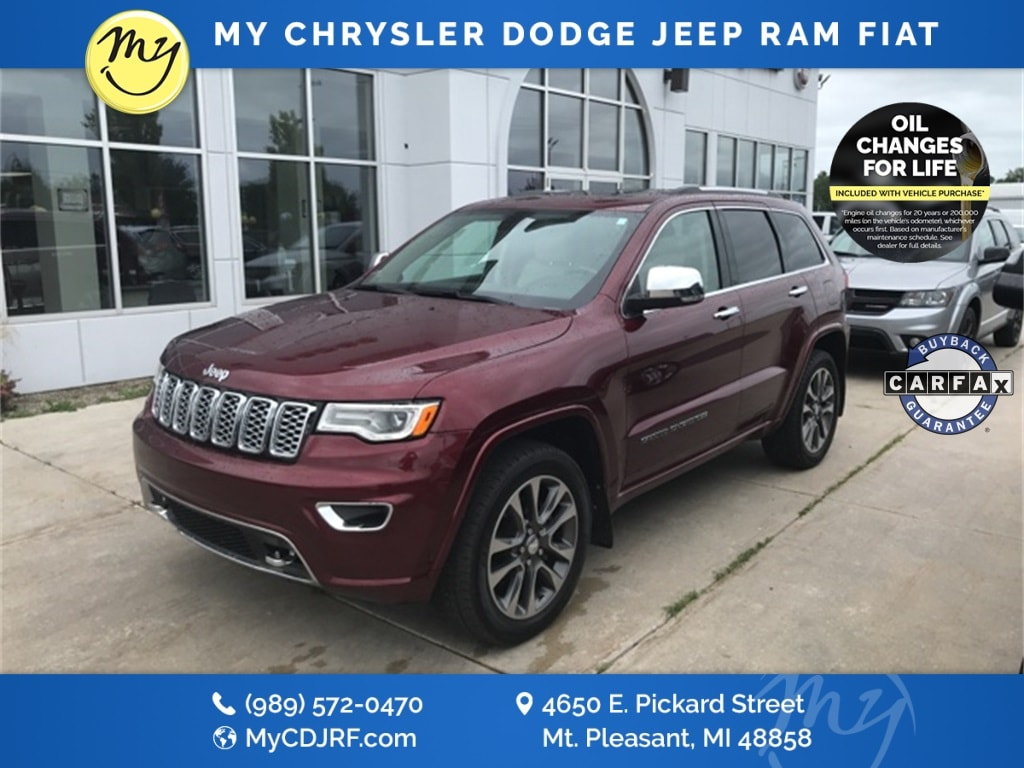 Featured Used 2017 Jeep Grand Cherokee Overland 4x4 SUV for sale in Mt. Pleasant, MI
