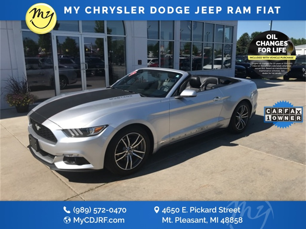 Featured Used 2017 Ford Mustang EcoBoost Premium Convertible for sale in Mt. Pleasant, MI