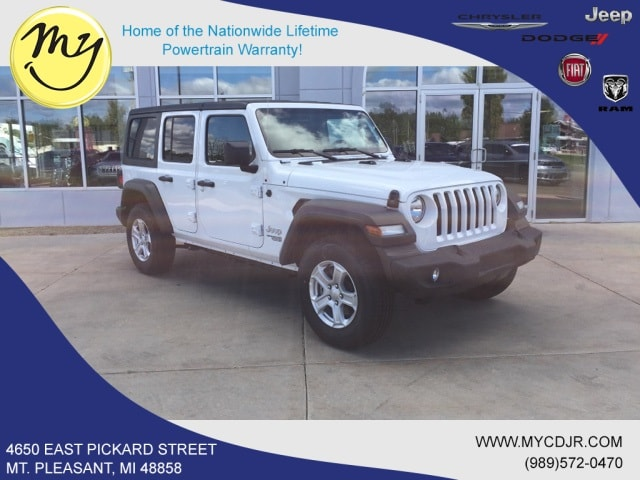 New 2018 Jeep Wrangler UNLIMITED SPORT S 4X4 Sport Utility for sale in Mt Pleasant, MI