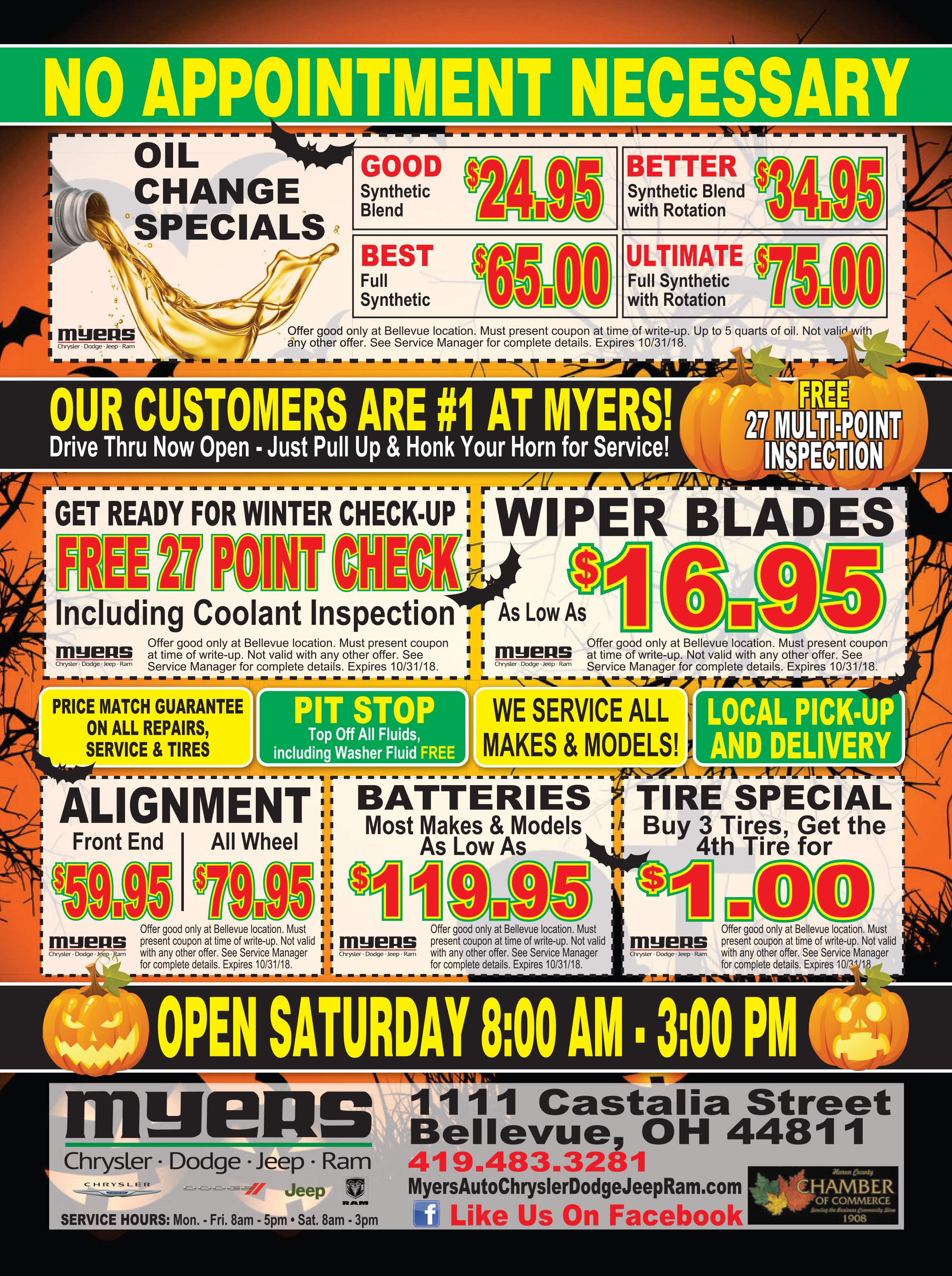 Full Synthetic Oil Change Coupon >> Oil Change Service Special Bellevue OH