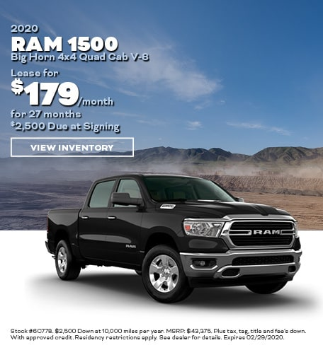 February- 2020 RAM 1500 New