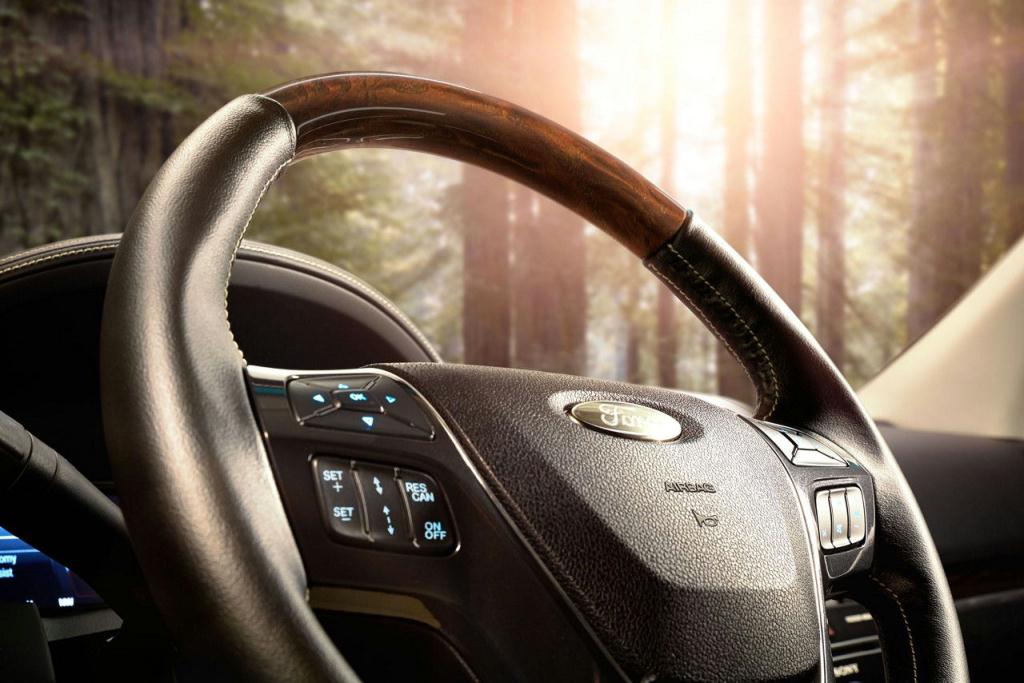 Ford Explorer Leather-Wrapped and Heated Steering Wheel