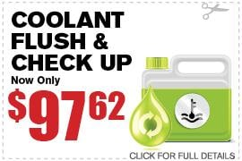 Coolant Flush & Check Up