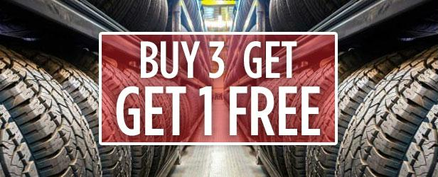Tire Sale - Buy 3 Tires, Get 1 FREE