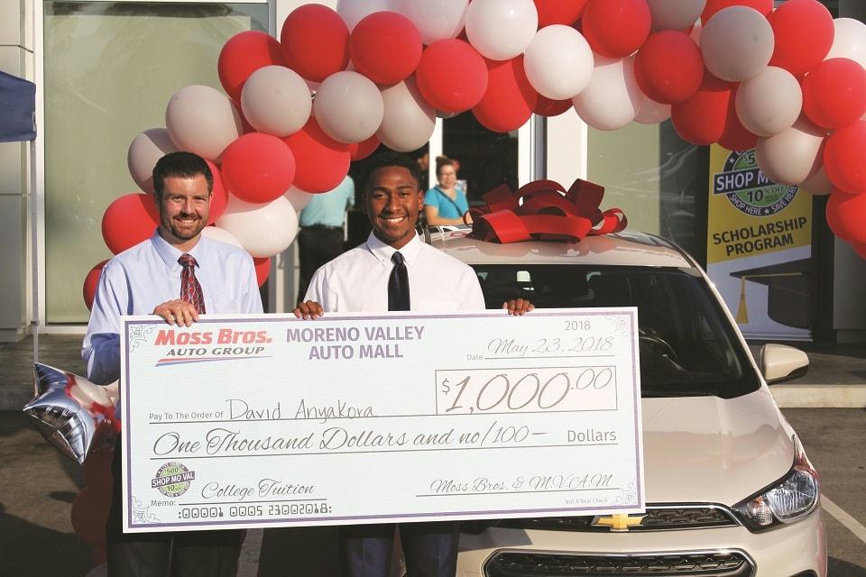 Moreno Valley Auto Mall #ShopMoVal Scholarship Recipient