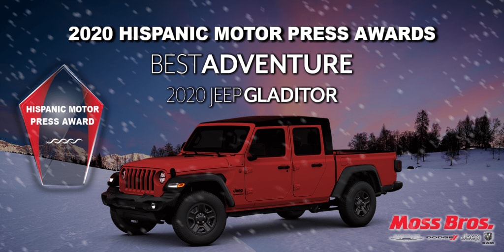 2020 Hispanic Motor Press Award for Best Adventure: Jeep Gladiator Rubicon