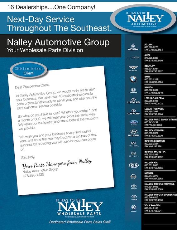Nalleycarscom New Volkswagen Lexus Ford BMW Acura Bentley - Audi wholesale parts