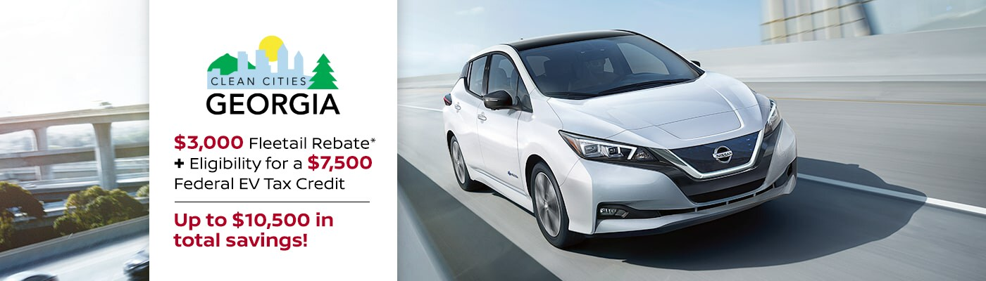 2018 Nissan LEAF Fleetail Rebate