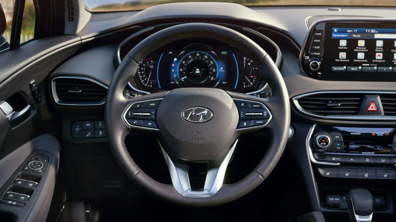 2020 Santa Fe Steering Wheel and Dashboard