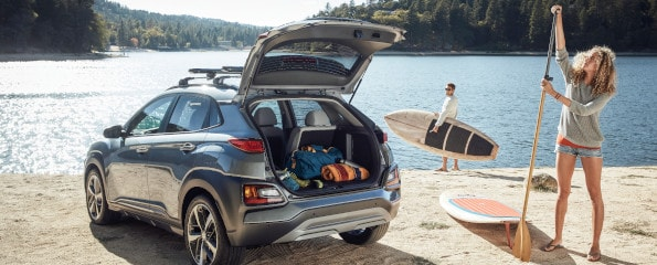 2020 Hyundai Kona Trunk Storage for Travelling