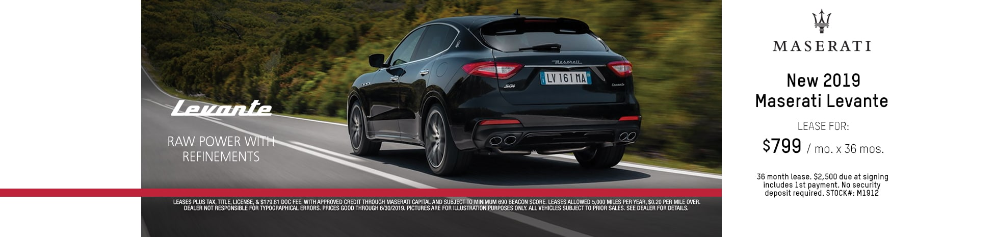2019 Maserati Levante Lease Deal