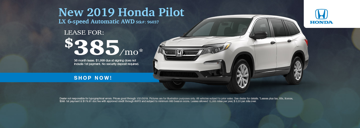 2019 Honda Pilot Dealership Deals