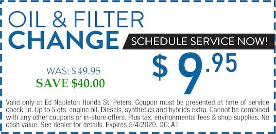Honda Oil Change Special Ed Napleton Honda