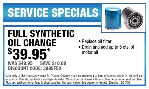 Nice Full Synthetic Oil Change Coupon St Peters, MO
