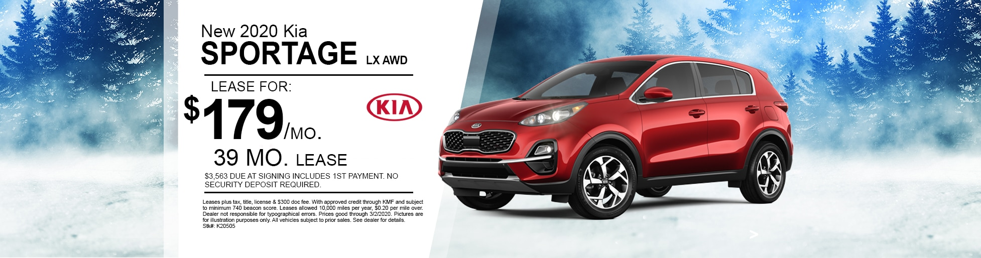 New 2020 Kia Sportage Lease Deal