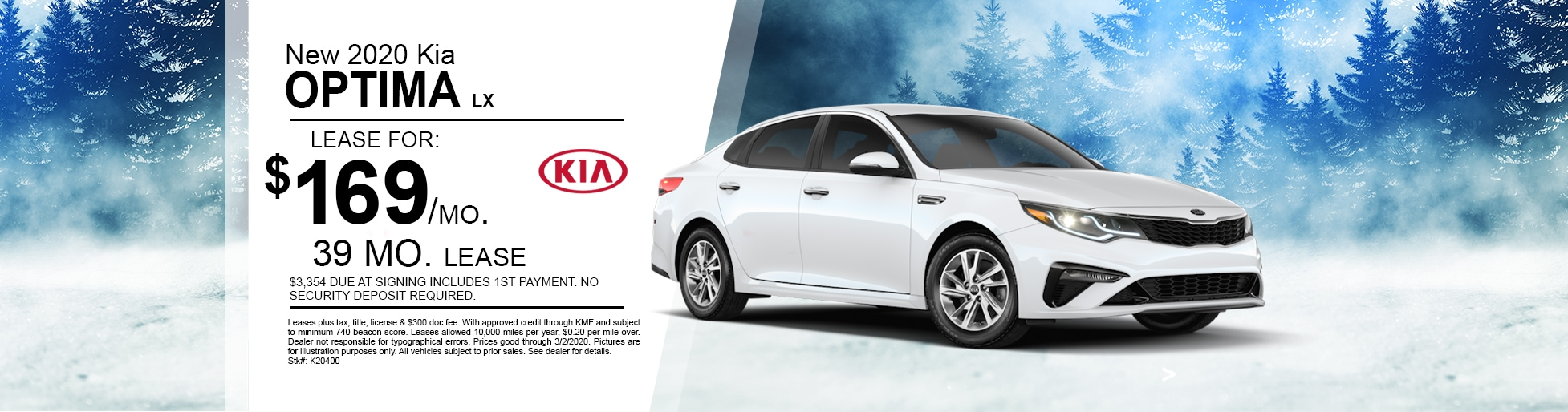 New 2020 Kia Optima Special Deal