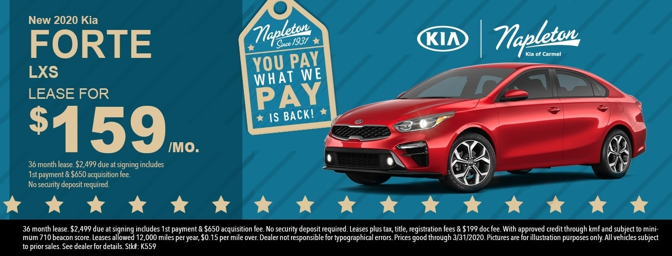 New 2020 Kia Forte Lease Deal