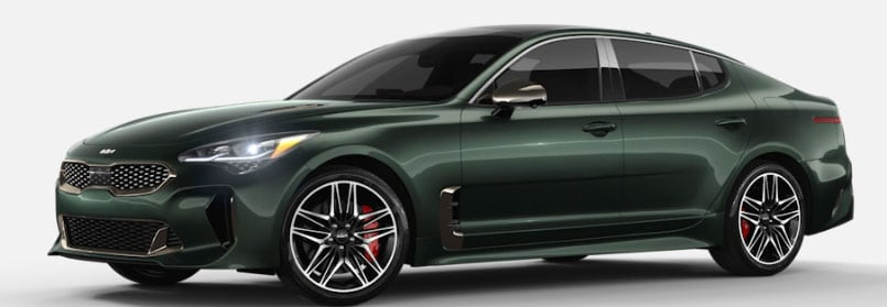 Ascot Green Kia Stinger in Carmel