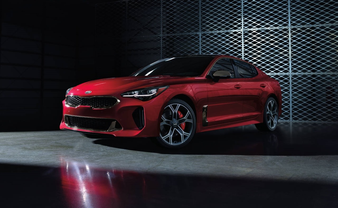 Kia Stinger GT Sports Coupe In Shadowy Garage