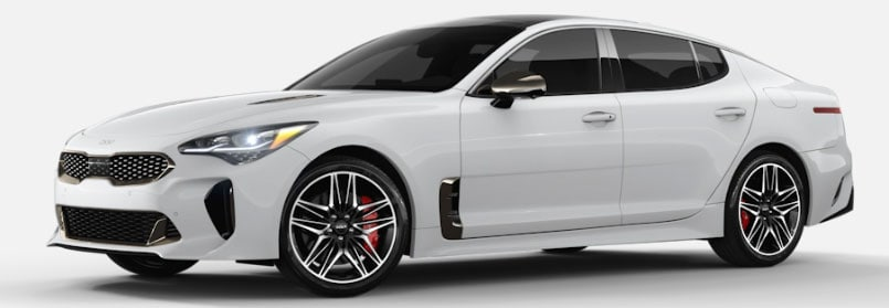 Snow White Pearl Kia Stinger For Sale in Carmel, IN