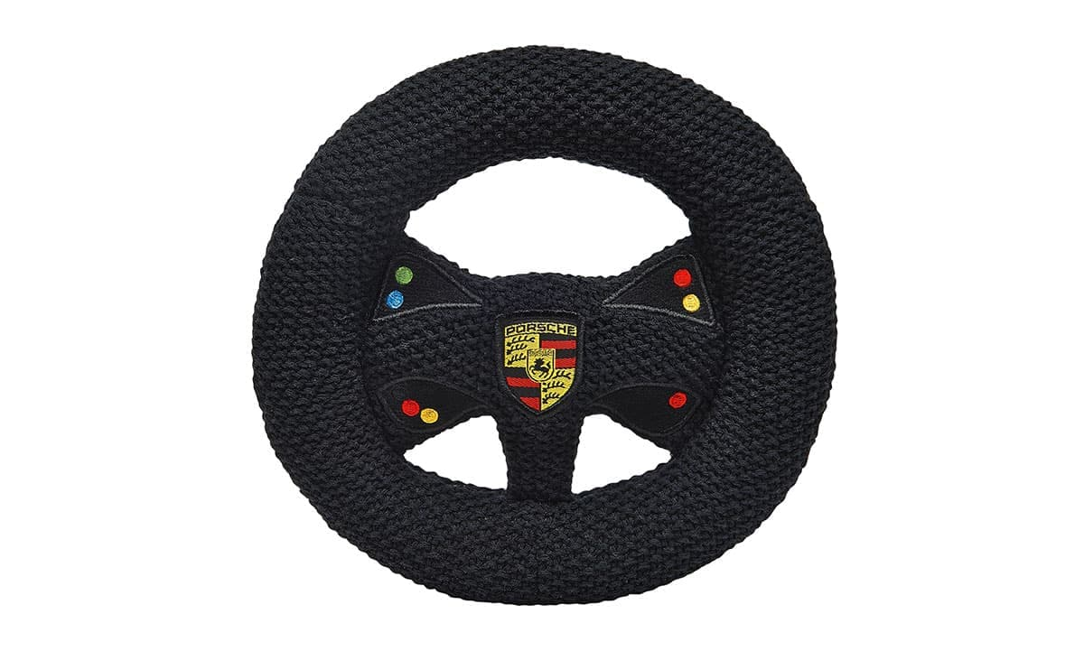 Porsche Kids Knitted Steering Wheel With Rattle - Motorsport